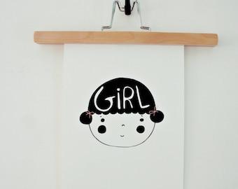 Print- Girl-