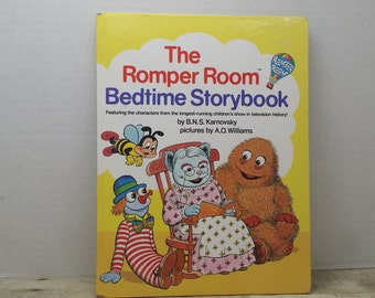 The Romper Room Bedtime Storybook, 1984,  BNS Karnovsky, AO Williams, vintage kids book