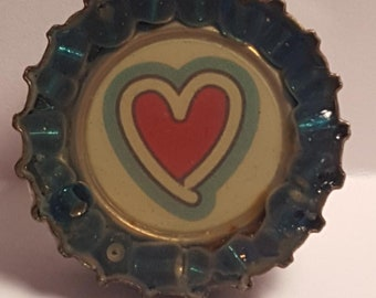 Vintage Love Bottle Cap Pendant