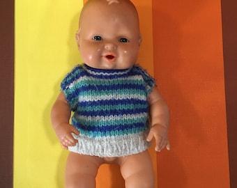Vintage Falca Baby Boy Doll Soft Squeaker