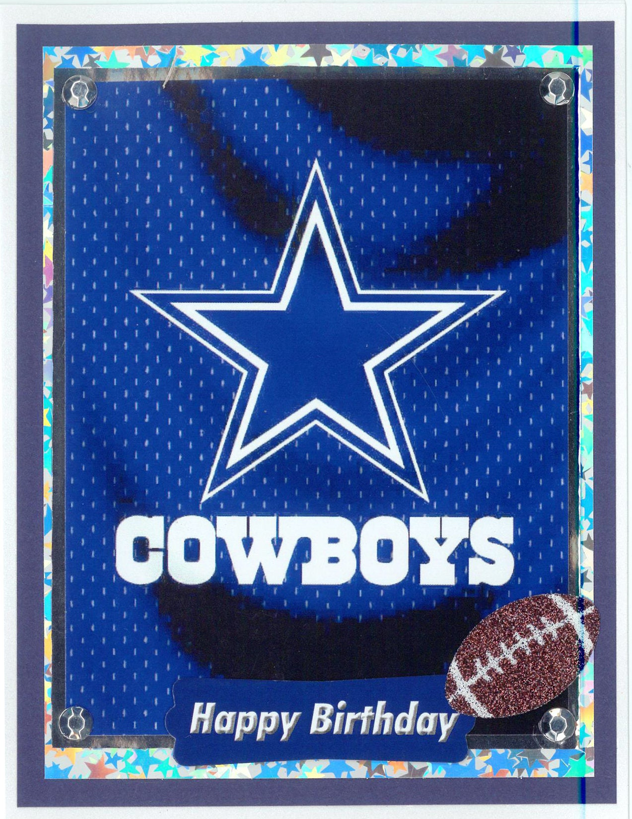 Dallas cowboys birthday card description this stunning handmade dallas cowboys birthday card kristyandbryce Choice Image