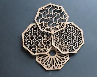 Laser Cut Coasters Set of 4
