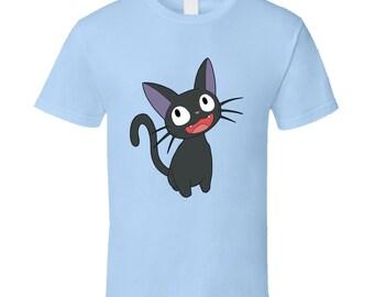 Kiki's Delivery Service - Jiji! - Cute Cat Light Blue T-Shirt