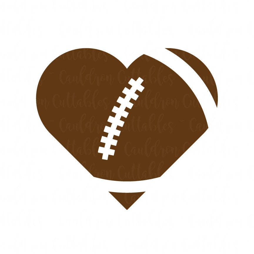 Download Heart Football SVG File Love Football Clipart Heart Shaped