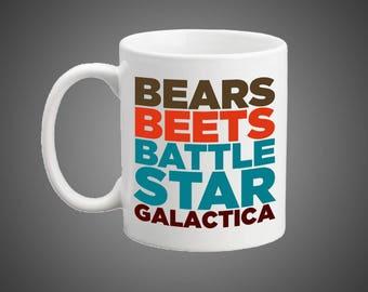 Bears, Beets, Battlestar Galactica Mug