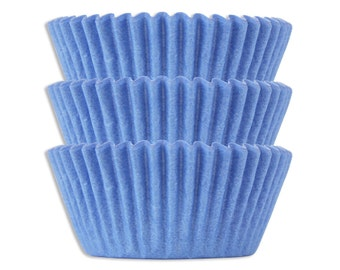 Solid Light Blue Baking Cups - 50 solid pretty pastel blue paper cupcake liners