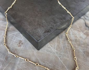 Gold Bar Chain Layering Necklace