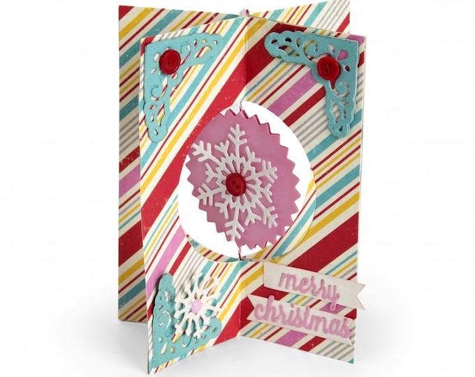 New! Sizzix Thinlits Die Set 11PK - Card, Snowflake by Lori Whitlock 662352 (X-Cards)