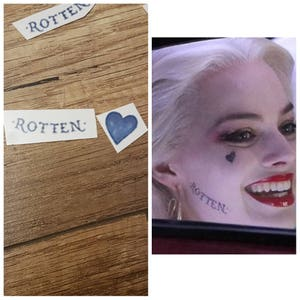 Harley Quinn Face Temporary  tattoo suicide squad