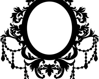 illustration frame photo cliparts royalty of chandelier vector free set