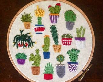 Cacti Embroidery Kit // Craft Kit // DIY Gift // Cactus