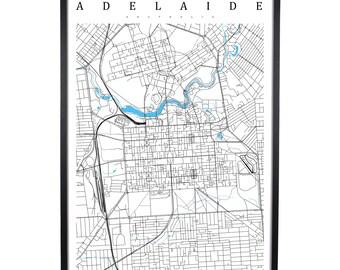 Adelaide - Australia Map