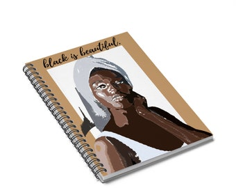 Black is Beautiful Spiral Notebook