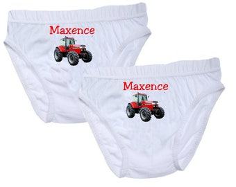 Pants boys tractor personalized with name