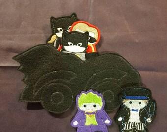 Batman finger puppets