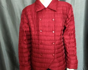 Size XL Samuel DongJacket/Designer Jacket/Quilted Rusty Red Jacket/Double Fastened Jacket/Snaps Fastened Jacket/No.431