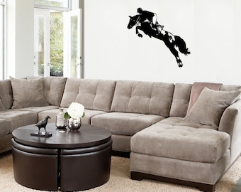 Horse- Eventing Horse and Rider wall decal,Horse sticker-Large decal 36 x 34 inches.