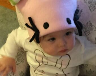 Child's fleece cat hat