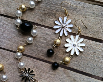 Daisy Flowers Necklace & Earring Set BR-072314-03