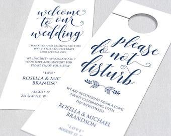 Wedding Door Hanger Door Hanger Printable Door Hanger