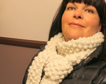 """Scarf Knitting Pattern """"Nicely Wrapped"""" Bulky Weight Yarn"""