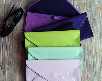 Undercover Leather Lapsang Travel Envelope - Leather travel envelope, holiday gift , travel and work passport holder and plane, tickets