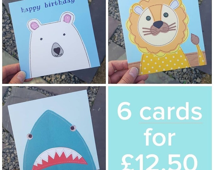 Special Offer / Multi Buy • Birthday Greetings Cards • 6 cards for 12.50 (& FREE UK POSTAGE)