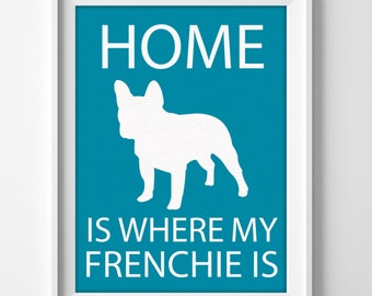 French bulldog personalized bedroom wall decor gift