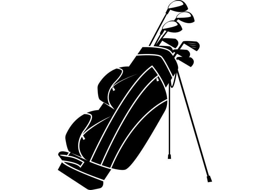 golf club bag golfer golfing clubs sports game svg eps png rh etsy com golf club bag clipart golf bag black and white clipart