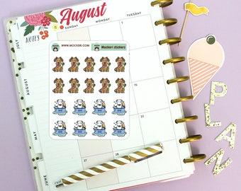 18 Dog Wash Brush Mini Stickers / Planner Stickers