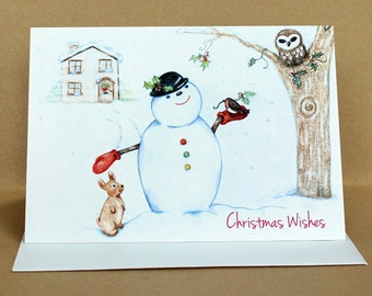 Christmas Friends Snowman Card