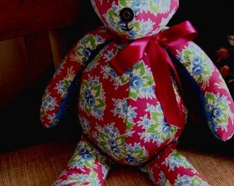 Feed Sack Teddy Bear