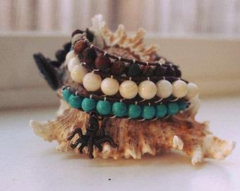 Octopus Garden Triple Wrap Bracelet
