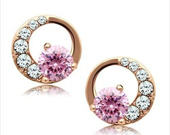 Vousi Stainless Steel IP Rose Gold Earrings