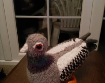 Lovely hand knitted Pigeon