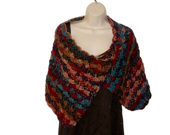Crochet Shawl, Shoulder Wrap, Romantic Shawl, Womens Stole, Southwest Shawl, Womens Shawl, Elegant Shawl, Womens Capelet, Shoulder Warmer