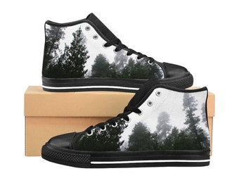 See The Forest For The Trees WomenS HighTop Sneakers Canvas Sneakers Forest Shoes Retro Style Tennis Shoes