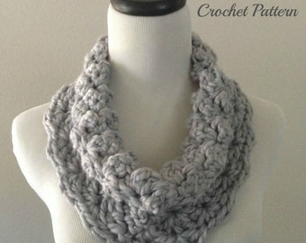 SPRING SALE CROCHET Pattern - Chunky Cowl Crochet Pattern, Chunky Cowl Pattern, Crochet Scarf Pattern, Easy Crochet Pattern, Beginner Croche