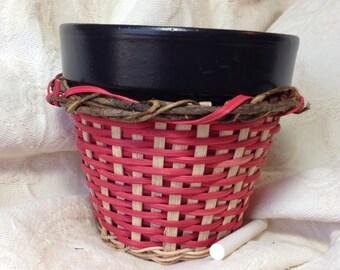 Teacher Gift Flower Pot with chalkboard rim