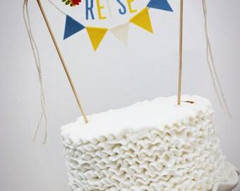 Madeline Cake Banner, personalisierte Kuchen Banner Geburtstag Kuchen Banner, kundenspezifische Kuchen-Banner, kundenspezifische Kuchen Girlande, personalisierte Kuchen Girlande