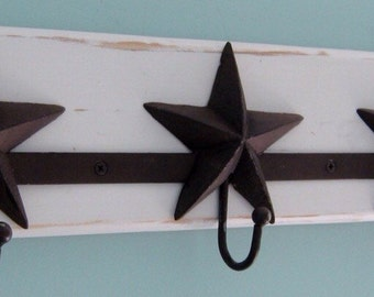 Metal Wall Mounted Cast Iron Coat Rack With 3 Hooks