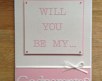 Will you be my... Godmother, Godfather, Godparents, Nouna, Dada? Personalised card for that all important question ! :-)