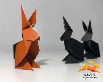 6 Handmade Origami Rabbits (in various colors)