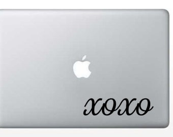xoxo macbook, computer, laptop, car, vinyl decal