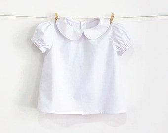 Baby Peter Pan Collar Blouse with Puff Sleeves – Pattern PDF Sewing Pattern – Instant download