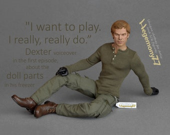 1/6 scale henley shirt inspired by Dexter Morgan - for regular collectible action figure bodies and male fashion dolls