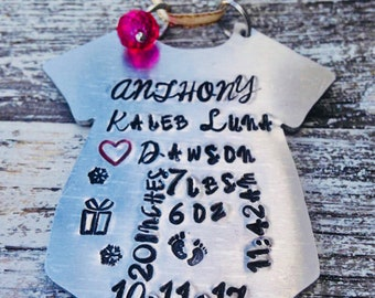 Babys first Christmas Ornament with date, time, length and weight~ Babys Ornament~ Keepsake ornament~ New baby gift~ Babys first ornament