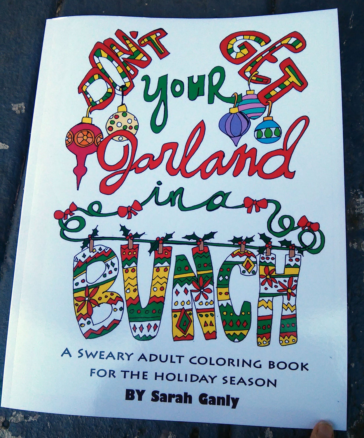 Holiday swear word coloring book Sweary Christmas Physical