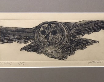 Flight - Limited Edition Drypoint Print