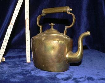 Antique English Brass Teapot